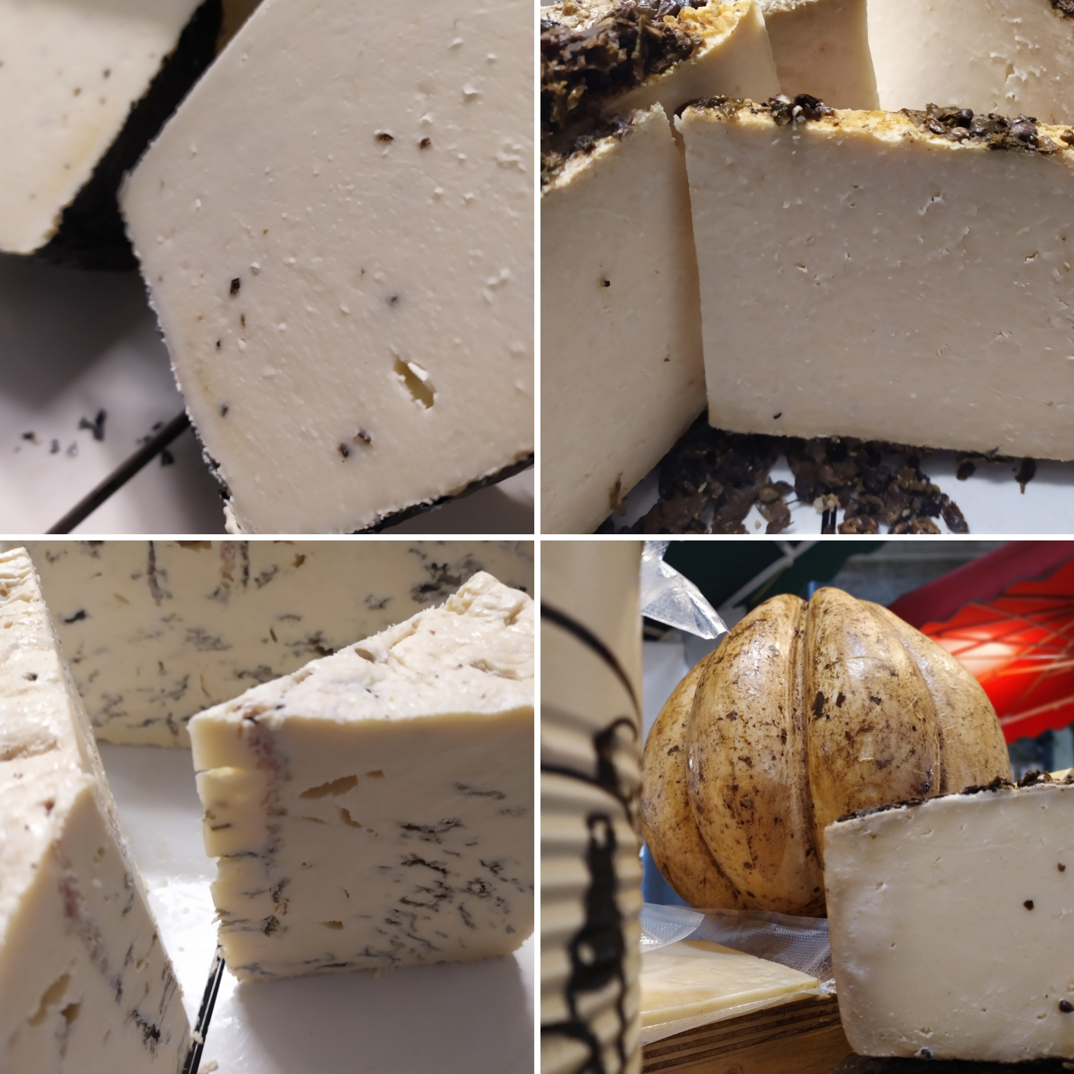 Aromatic selection of cheeses