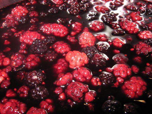 Berries in juice