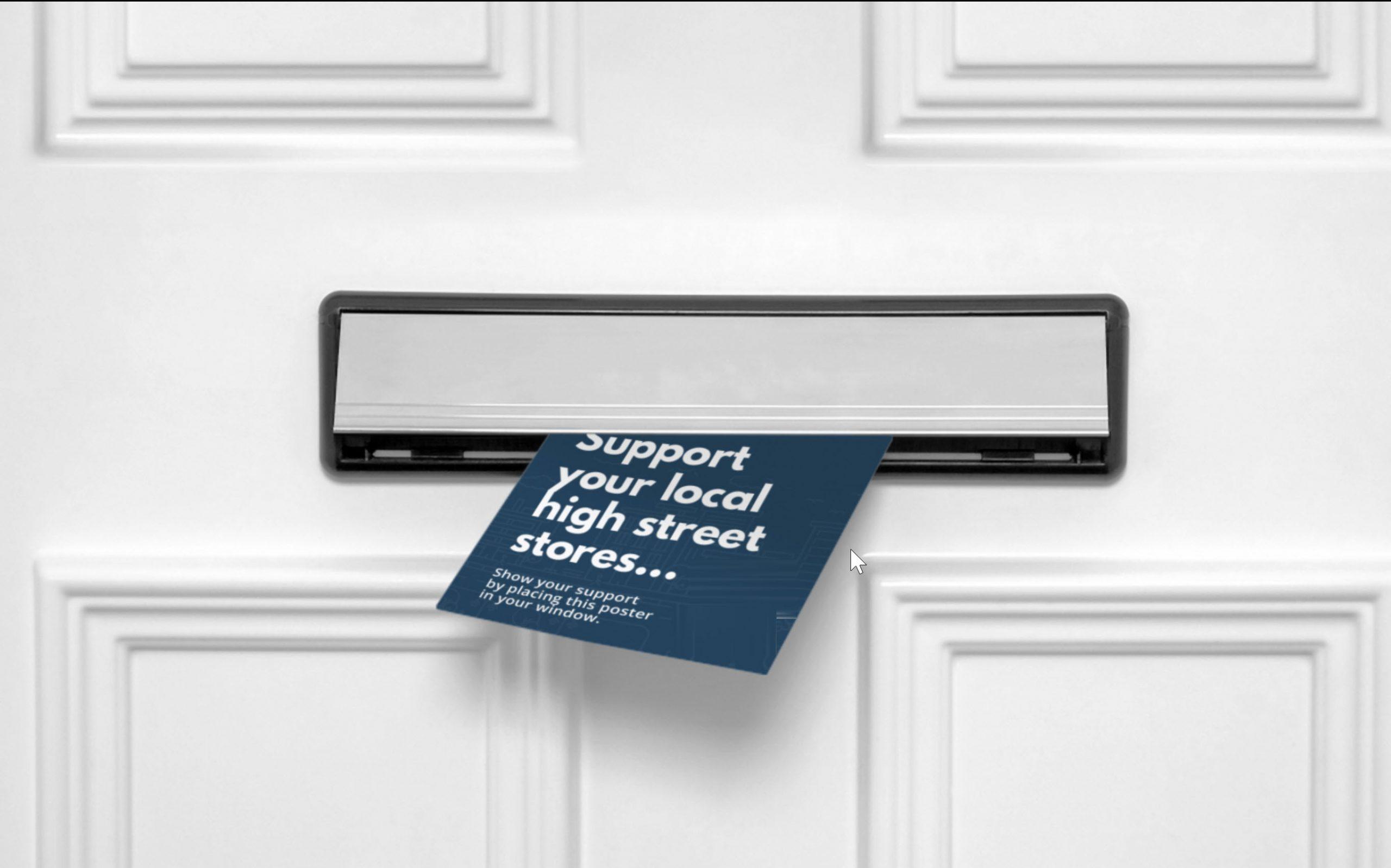 Leaflet in door