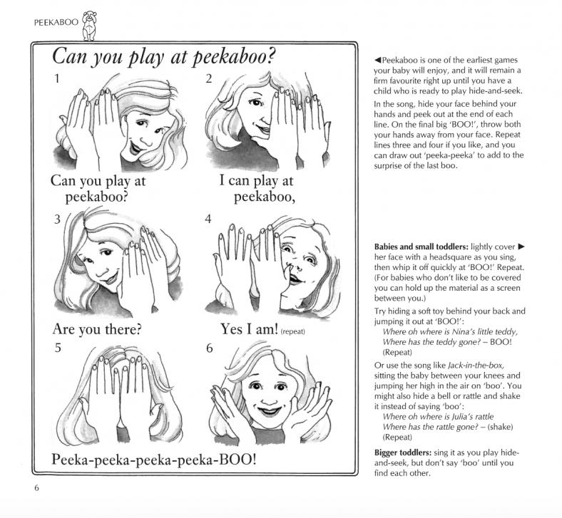 Playsongs Peekaboo page
